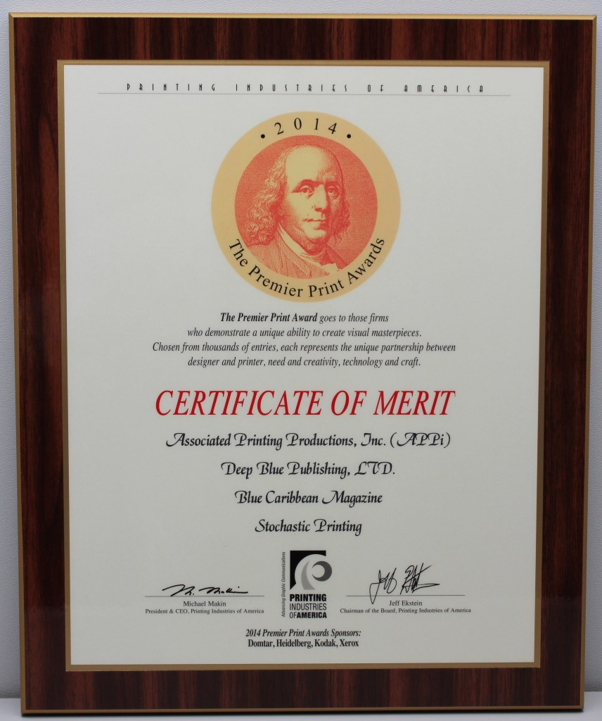 Printing Industries of America, Certificate of Merit