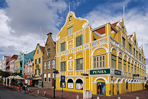 Penha building, corner of Handelskade and Breedestraat, Willemstad