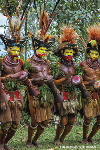 Huli tribe, Huli wigmen, Papua New Guinea, Diane Henderson, Blue magazine