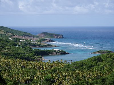 Bequia island, view of three bays in Bequia, St. Vincent and The Grenadines, SVG, Spring Bay, Industry Bay, Park Bay, Sal Bay, Brute Point, East Coast of Bequia, Blue magazine, Sandra Baksh