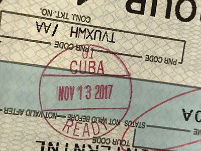Cuba Ready stamp on Boarding pass, Cuba travel from Untied States